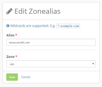 Zonealiases